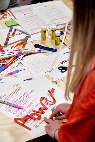 'Find Your Voice' in an experimental and hands-on poster making workshop.